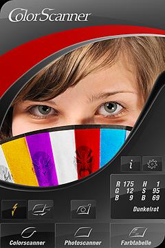 Ansicht des Farbscanners