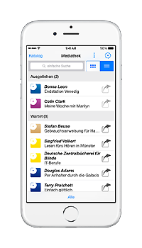 iPhone mit laufender Blibu NBH&CB App