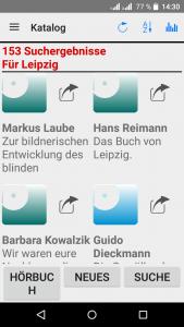 DZB-App auf Android-Gerät