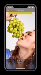iPhone mit laufender ColorVisor-App