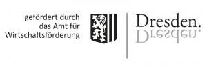 Logo: gefördert durch das Amt für Wirtschaftsförderung der Landeshauptstadt Dresden
